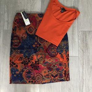 NWT Jones New York Skirt and Carol Little T-Shirt